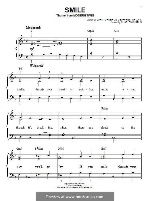 Smile: Для фортепиано by Charles Chaplin