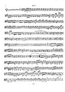 Шесть струнных квартетов, Op.2: Квартеты No.1-3 – Партия альта by Родольф Крейцер