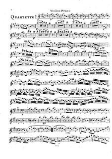 Шесть струнных квартетов, Op.2: Квартеты No.1-3 – Партия первой скрипки by Родольф Крейцер