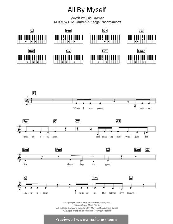 All By Myself: Мелодия by Eric Carmen