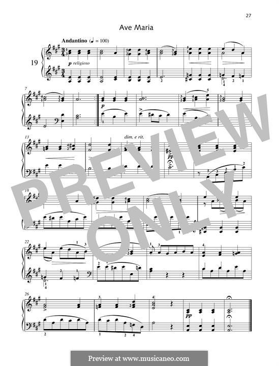 No.19 Ave Maria: Для фортепиано by Иоганн Фридрих Бургмюллер
