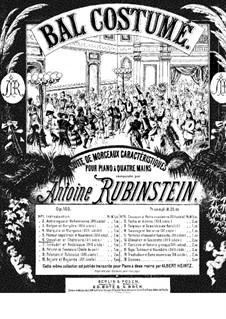 Костюмированный бал, Op.103: No.6 Рыцарь и его дама by Антон Рубинштейн