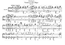 Анданте и вариации, Op.83a: Для фортепиано в 4 руки by Феликс Мендельсон-Бартольди