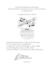 My First Christmas Recorder Book (for easy recorder and piano accompaniment): My First Christmas Recorder Book (for easy recorder and piano accompaniment) by folklore, Франц Ксавьер Грубер, Benjamin Russel Hanby, James Lord Pierpont