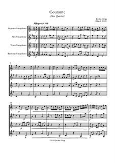 Courante: Для квартета саксофонов by Jordan Grigg