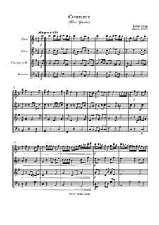 Courante: For wind quartet by Jordan Grigg