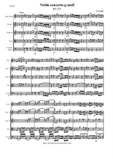 Violin concerto g-moll, RV 333: Violin concerto g-moll by Антонио Вивальди