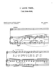 Мелодии сердца, Op.5: No.3 Jeg elsker Dig (I Love Thee) by Эдвард Григ