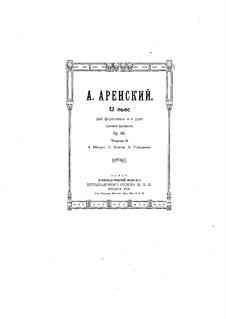 Двенадцать пьес для фортепиано в четыре руки, Op.66: Пьесы No.4-6 by Антон Аренский