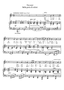 Bella porta di rubini: Для голоса и фортепиано by Андреа Фальконьери