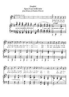 Il Carro Trionfale. Apra il suo verde seno: Для голоса и фортепиано by Паоло Квальяти