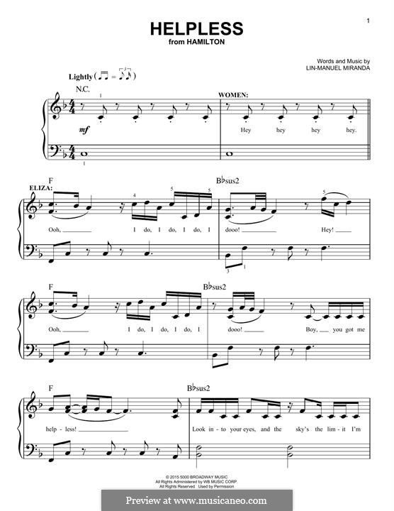 Helpless (Ashanti & Ja Rule): Для фортепиано by Lin-Manuel Miranda