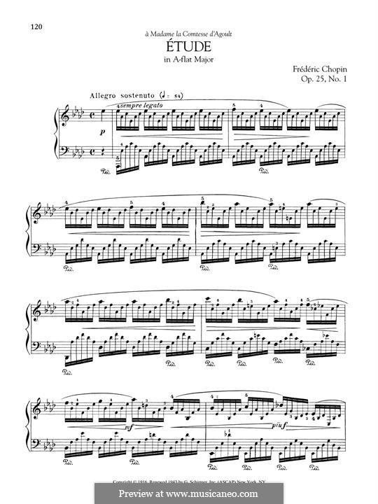 No.1 ля-бемоль мажор: Для фортепиано by Фредерик Шопен