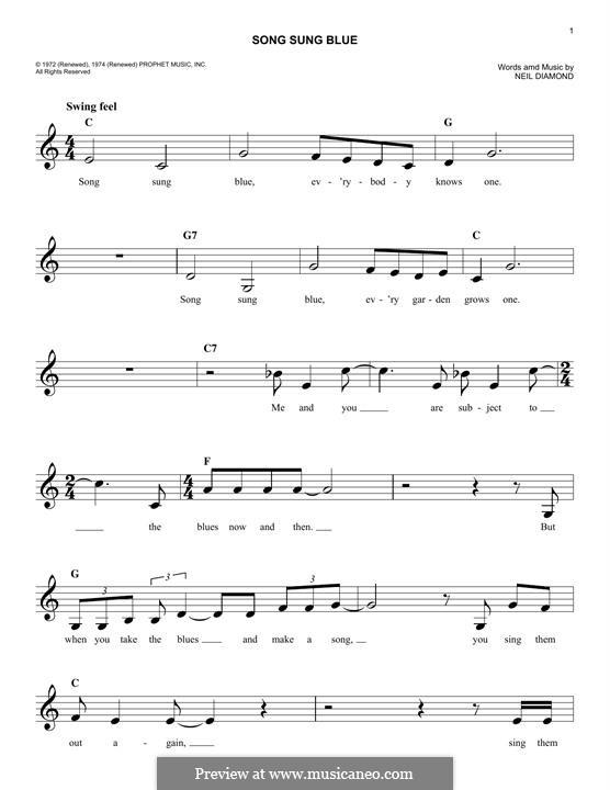 Song Sung Blue: Мелодия by Neil Diamond