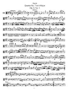 Струнный квартет No.7 ля мажор, Hob.III/7 Op.2 No.1: Партия альта by Йозеф Гайдн