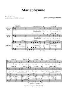 Marienhymne: Marienhymne by Йозеф Габриэль Райнбергер