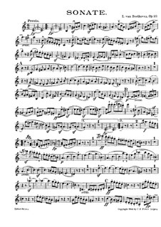 Соната для скрипки и фортепиано No.4, Op.23: Сольная партия by Людвиг ван Бетховен