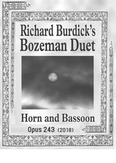 Bozeman Duet: For horn and bassoon, Op.243 by Richard Burdick