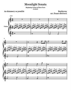 Все части: Для гитары by Людвиг ван Бетховен