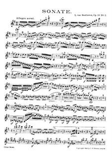 Соната для скрипки и фортепиано No.8, Op.30 No.3: Сольная партия by Людвиг ван Бетховен