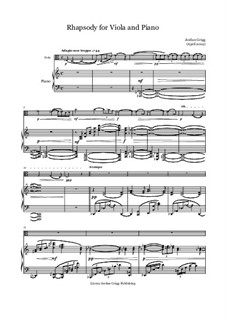 Rhapsody for Viola and Piano: Rhapsody for Viola and Piano by Jordan Grigg