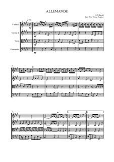 Allemande für Streichquartett: Allemande für Streichquartett by Георг Фридрих Гендель