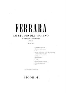 Этюды для скрипки: Тетрадь IV by Бернардо Феррара