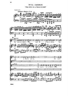 No.12 Ибо младенец родился нам — Сын дан нам: Клавир с вокальной партией by Георг Фридрих Гендель