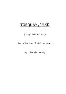 Torquay, 1930: Для кларнета и гитары by Lincoln Brady