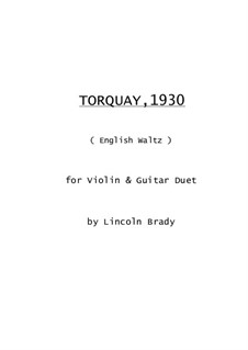 Torquay, 1930: For violin and guitar by Lincoln Brady
