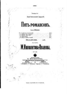 Пять романсов для голоса и фортепиано, Op.28: Пять романсов для голоса и фортепиано by Михаил Ипполитов-Иванов