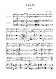 Фортепианное трио No.2 ми-бемоль мажор, D.929 Op.100: Партитура by Франц Шуберт
