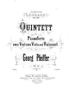 Фортепианный квинтет до минор, Op.41: Партия виолончели by Жорж Жан Пфайфер