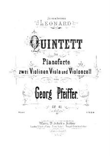 Фортепианный квинтет до минор, Op.41: Партитура by Жорж Жан Пфайфер