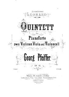 Фортепианный квинтет до минор, Op.41: Скрипка II by Жорж Жан Пфайфер