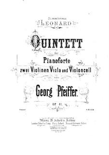 Фортепианный квинтет до минор, Op.41: Партия альта by Жорж Жан Пфайфер
