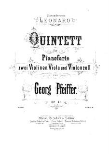 Фортепианный квинтет до минор, Op.41: Скрипка I by Жорж Жан Пфайфер