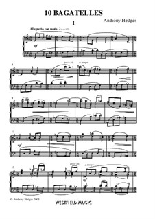 Ten Bagatelles, Op.156: Ten Bagatelles by Anthony Hedges