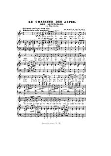 Альпийский охотник, D.524 Op.13 No.3: Клавир с вокальной партией by Франц Шуберт