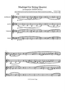 Madrigal: For SATB chorus by Jordan Grigg