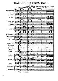 Испанское каприччио, Op.34: Части I-II by Николай Римский-Корсаков