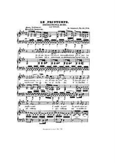 Frühlingsglaube (Faith in Spring), D.686 Op.20 No.2: Немецкий и французский тексты by Франц Шуберт