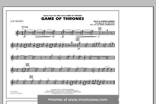 Game of Thrones (arr. Jay Bocook): 1st Bb Trumpet part by Ramin Djawadi