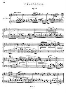 Шесть пьес, Op.51: No.1 Меланхолия by Антон Рубинштейн
