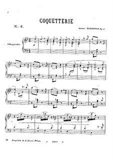Шесть пьес, Op.51: No.6 Coquetterie by Антон Рубинштейн