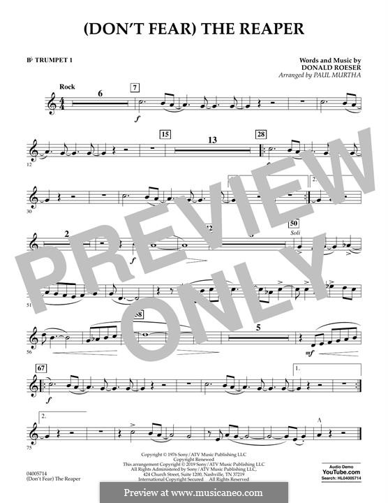 Don't Fear / The Reaper (Blue Oyster Cult): Bb Trumpet 1 part (arr. Paul Murtha) by Donald Roeser