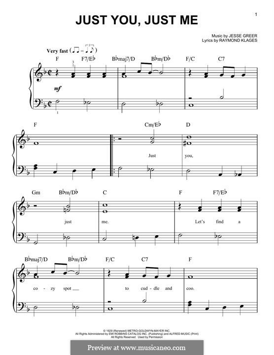 Just You, Just Me: Для фортепиано by Jesse Greer