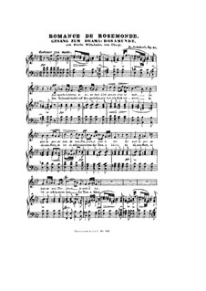 Romanze 'Der Vollmond strahlt auf Bergeshöh'n': Весрия для голоса и фортепиано by Франц Шуберт
