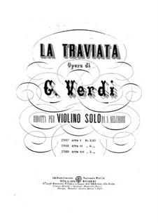 Вся опера: Версия для скрипки by Джузеппе Верди