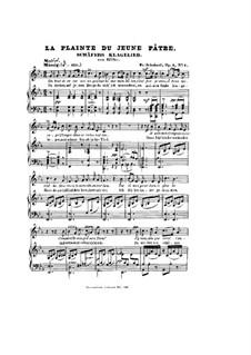 Жалобная песнь пастуха, D.121 Op.3 No.1: Клавир с вокальной партией by Франц Шуберт
